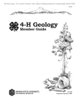 4-H Geology Member Guide - Oregon State University