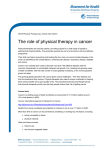 The role of physical therapy in cancer