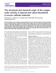 The structural and chemical origin of the oxygen redox activity in