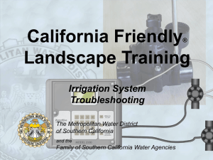 Irrigation system troubleshooting - Metropolitan Water District of