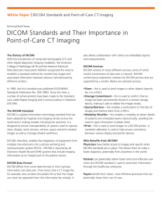 DICOM Standards and Point-of-Care CT Imaging