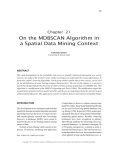 On the MDBSCAN Algorithm in a Spatial Data Mining Context