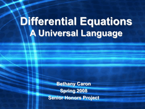 Differential Equations: A Universal Language