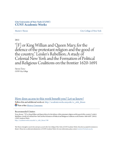 """[F] or King Willian and Queen Mary, for the defence of the protestant"