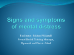 Signs and Symptoms of Mental Distress