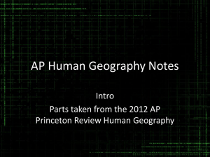 AP Human Geography Notes