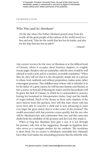 (and Is) Abraham? - Princeton University Press