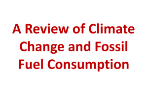 A Review of Climate Change and Fossil Fuel Consumption