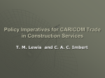 CARICOM Policy initiatives for the Construction sector