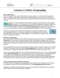 US History Name: Regents Prep Date: Period: ___ Lesson #1 Notes