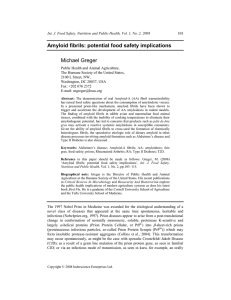 Amyloid Fibrils: Potential Food Safety Implications
