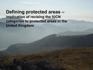 Defining protected areas