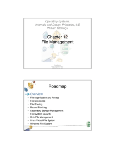 Chapter 12 File Management Roadmap