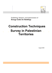 Construction Techniques Survey in Palestinian Territories