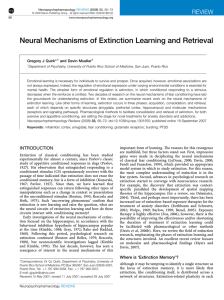 Neural Mechanisms of Extinction Learning and Retrieval