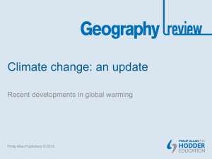 Climate change: an update