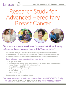 Research Study for Advanced Hereditary Breast Cancer