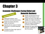 Chapter 3 - Economic Challenges Facing Global and Domestic