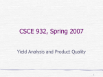 Yield Analysis and Product Quality