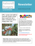 Newsletter - Ashcroft Surgery