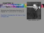 14. Elementary Particles