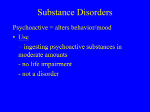 Slides Chapter 11 - Substance Disorders