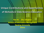 Unique Contributions and Opportunities of iSchools in Data Science
