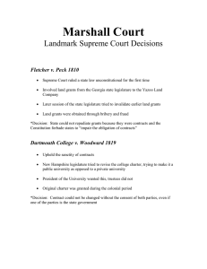 Marshall Court Cases