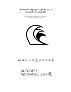 Decide what language is right for you || Autodesk MotionBuilder