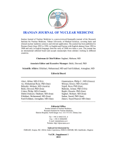 1452 K - Iranian Journal of Nuclear Medicine
