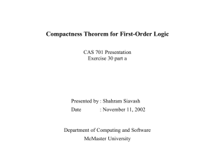 Compactness Theorem for First-Order Logic