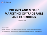 Internet marketing of trade fairs and exhibitions