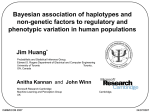 Bayesian association of haplotypes and non