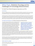 Radiation Oncology and the Challenges of Technology Advancements