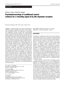 Psychopharmacology of conditioned reward