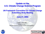 Ms. Linda Moodie: Update on the U.S. Climate Change Science