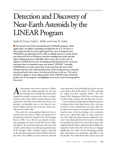 Detection and Discovery of Near-Earth Asteroids by the LINEAR