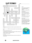 Plate Tectonics Crossword - Science