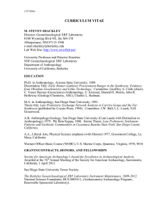curriculum vitae - Anthropology, UC Berkeley