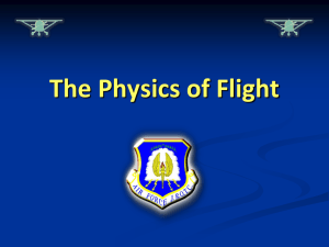 Chp1, Lesson 2 Slides Physics of Flight