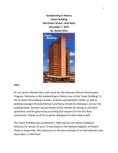 Tower Building - the Arkansas Historic Preservation Program