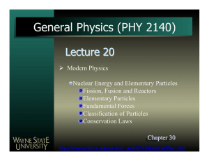 1 slide per page() - Wayne State University Physics and Astronomy