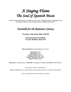 program  - Ensemble for the Romantic Century