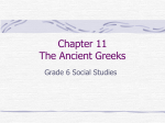 Chapter 11 The Ancient Greeks