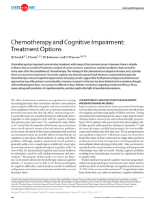 Chemotherapy and Cognitive Impairment