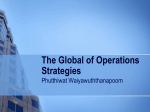 The Global of Operations Strategies