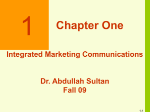 Figure 1-2 Reasons for Integrated Marketing Communications