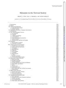 Histamine in the Nervous System