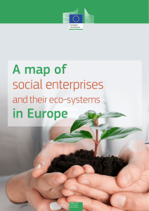 A map of social enterprises in Europe