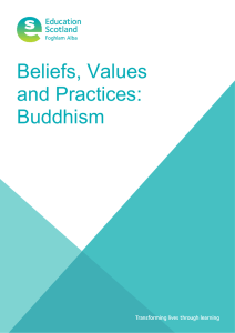 Beliefs, Values and Practices: Buddhism